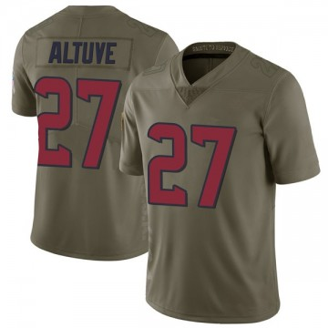 Youth Nike Houston Texans Jose Altuve Green 2017 Salute to Service Jersey - Limited
