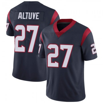 Youth Nike Houston Texans Jose Altuve Navy 100th Vapor Jersey - Limited