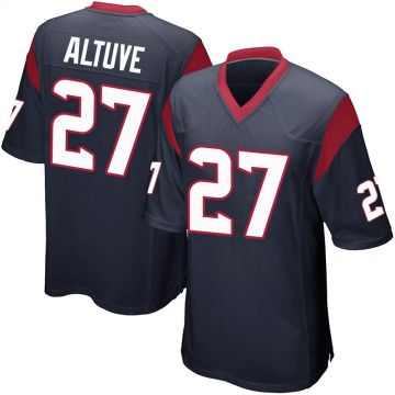 Youth Nike Houston Texans Jose Altuve Navy Blue Team Color Jersey - Game