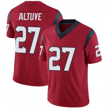 Youth Nike Houston Texans Jose Altuve Red Alternate Vapor Untouchable Jersey - Limited