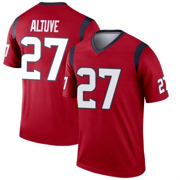 Youth Nike Houston Texans Jose Altuve Red Jersey - Legend