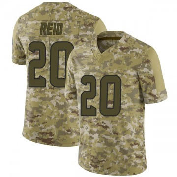 Youth Nike Houston Texans Justin Reid Camo 2018 Salute to Service Jersey - Limited
