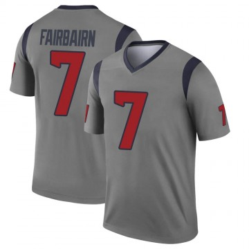 Youth Nike Houston Texans Ka'imi Fairbairn Gray Inverted Jersey - Legend