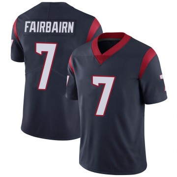 Youth Nike Houston Texans Ka'imi Fairbairn Navy 100th Vapor Jersey - Limited