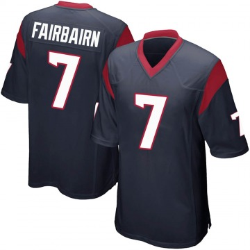 Youth Nike Houston Texans Ka'imi Fairbairn Navy Blue Team Color Jersey - Game
