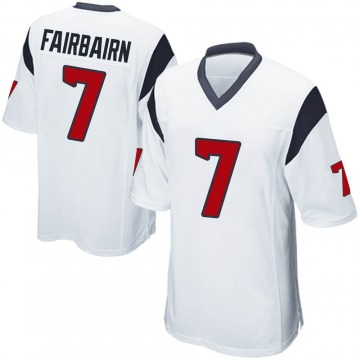 Youth Nike Houston Texans Ka'imi Fairbairn White Jersey - Game