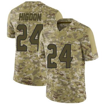Youth Nike Houston Texans Karan Higdon Camo 2018 Salute to Service Jersey - Limited