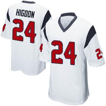 Youth Nike Houston Texans Karan Higdon White Jersey - Game
