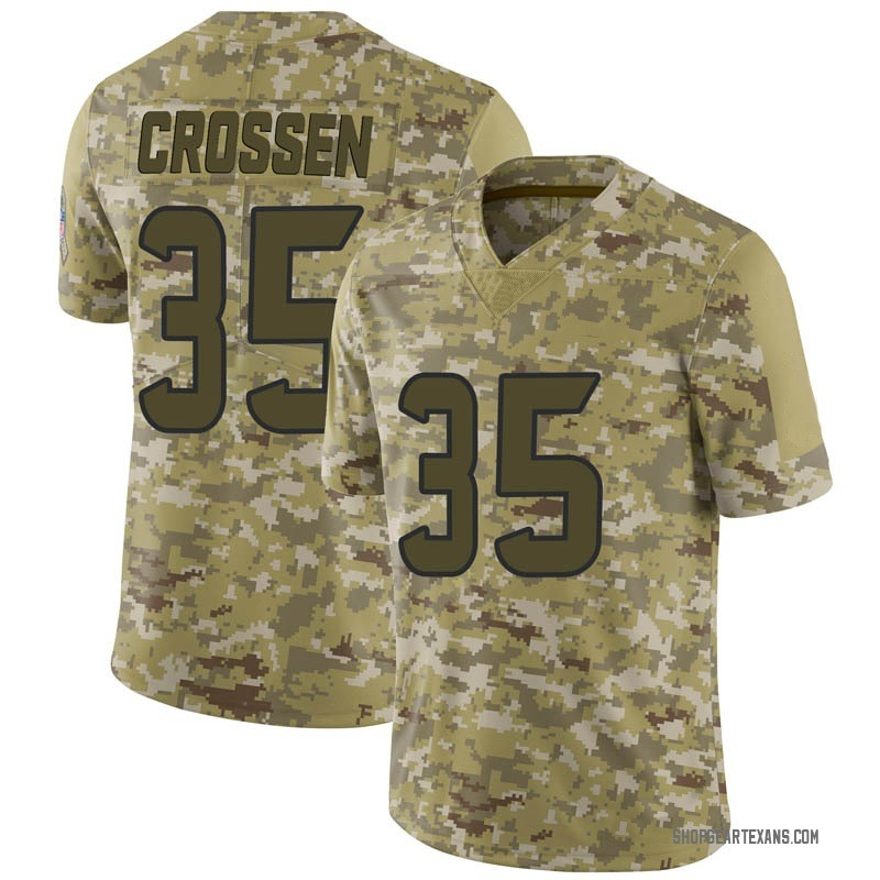 Youth Nike Houston Texans Keion Crossen Camo 2018 Salute to Service Jersey - Limited