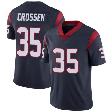 Youth Nike Houston Texans Keion Crossen Navy 100th Vapor Jersey - Limited
