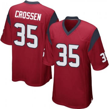 Youth Nike Houston Texans Keion Crossen Red Alternate Jersey - Game