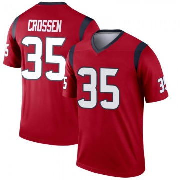 Youth Nike Houston Texans Keion Crossen Red Jersey - Legend