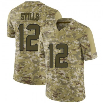 Youth Nike Houston Texans Kenny Stills Camo 2018 Salute to Service Jersey - Limited