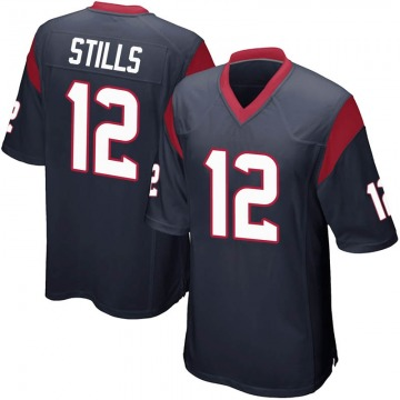 Youth Nike Houston Texans Kenny Stills Navy Blue Team Color Jersey - Game
