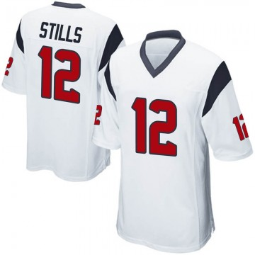 Youth Nike Houston Texans Kenny Stills White Jersey - Game