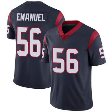Youth Nike Houston Texans Kyle Emanuel Navy Blue Team Color Vapor Untouchable Jersey - Limited