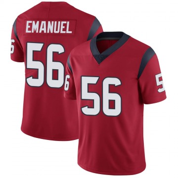 Youth Nike Houston Texans Kyle Emanuel Red Alternate Vapor Untouchable Jersey - Limited