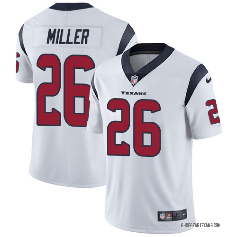 best service a2703 d5ed6 Youth Nike Houston Texans Lamar Miller White Jersey - Limited