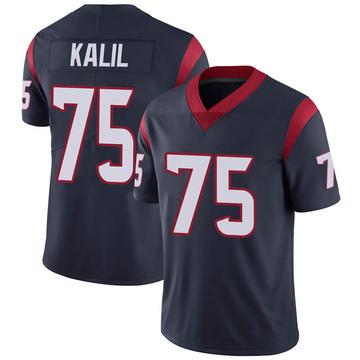 Youth Nike Houston Texans Matt Kalil Navy 100th Vapor Jersey - Limited