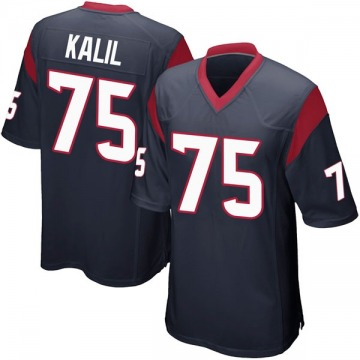 Youth Nike Houston Texans Matt Kalil Navy Blue Team Color Jersey - Game