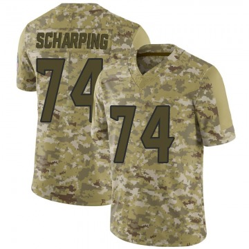 Youth Nike Houston Texans Max Scharping Camo 2018 Salute to Service Jersey - Limited