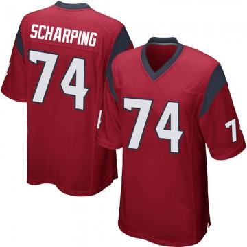 Youth Nike Houston Texans Max Scharping Red Alternate Jersey - Game
