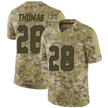 Youth Nike Houston Texans Michael Thomas Camo 2018 Salute to Service Jersey - Limited