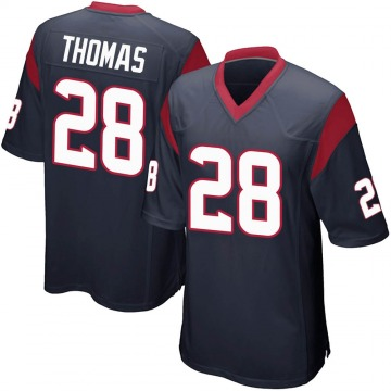 Youth Nike Houston Texans Michael Thomas Navy Blue Team Color Jersey - Game