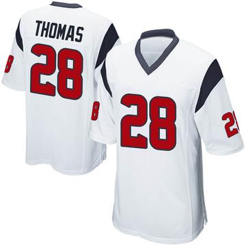 Youth Nike Houston Texans Michael Thomas White Jersey - Game