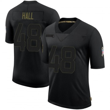 Youth Nike Houston Texans Nate Hall Black 2020 Salute To Service Jersey - Limited