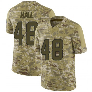 Youth Nike Houston Texans Nate Hall Camo 2018 Salute to Service Jersey - Limited