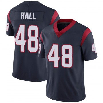 Youth Nike Houston Texans Nate Hall Navy Blue Team Color Vapor Untouchable Jersey - Limited