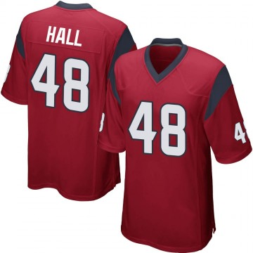 Youth Nike Houston Texans Nate Hall Red Alternate Jersey - Game