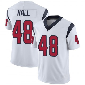 Youth Nike Houston Texans Nate Hall White Vapor Untouchable Jersey - Limited
