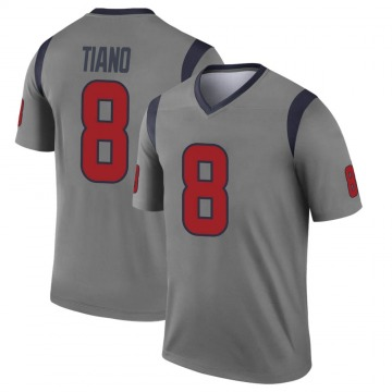 Youth Nike Houston Texans Nick Tiano Gray Inverted Jersey - Legend