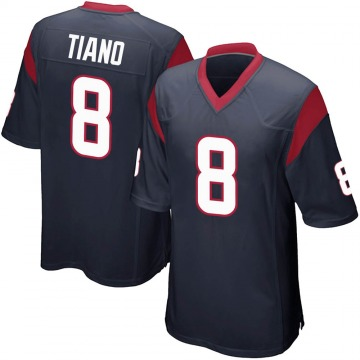 Youth Nike Houston Texans Nick Tiano Navy Blue Team Color Jersey - Game