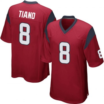 Youth Nike Houston Texans Nick Tiano Red Alternate Jersey - Game