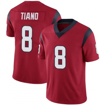 Youth Nike Houston Texans Nick Tiano Red Alternate Vapor Untouchable Jersey - Limited