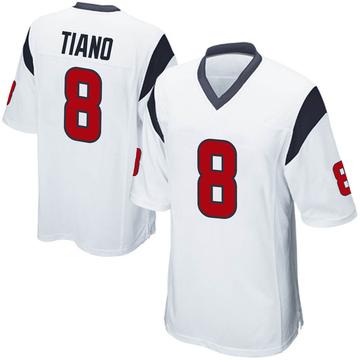 Youth Nike Houston Texans Nick Tiano White Jersey - Game
