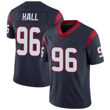 Youth Nike Houston Texans P.J. Hall Navy 100th Vapor Jersey - Limited