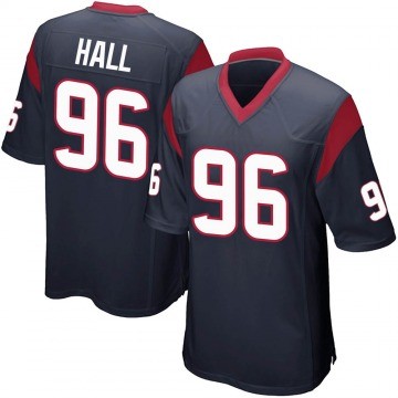 Youth Nike Houston Texans P.J. Hall Navy Blue Team Color Jersey - Game