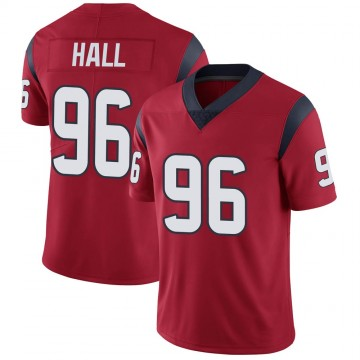 Youth Nike Houston Texans P.J. Hall Red Alternate Vapor Untouchable Jersey - Limited