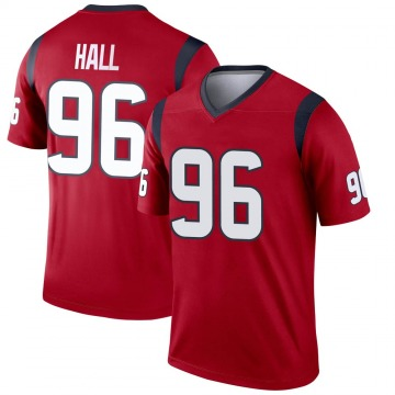 Youth Nike Houston Texans P.J. Hall Red Jersey - Legend