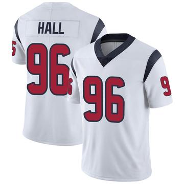 Youth Nike Houston Texans P.J. Hall White Vapor Untouchable Jersey - Limited
