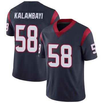 Youth Nike Houston Texans Peter Kalambayi Navy 100th Vapor Jersey - Limited
