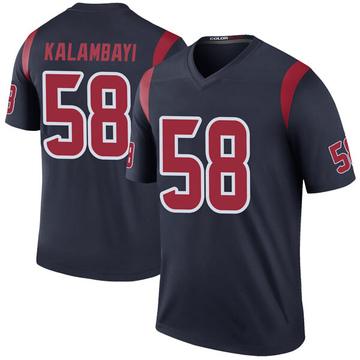 Youth Nike Houston Texans Peter Kalambayi Navy Color Rush Jersey - Legend