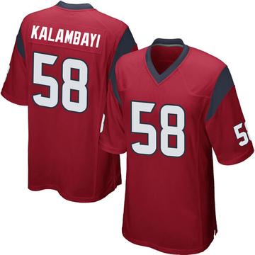 Youth Nike Houston Texans Peter Kalambayi Red Alternate Jersey - Game