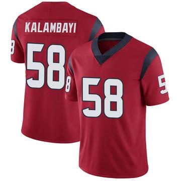 Youth Nike Houston Texans Peter Kalambayi Red Alternate Vapor Untouchable Jersey - Limited