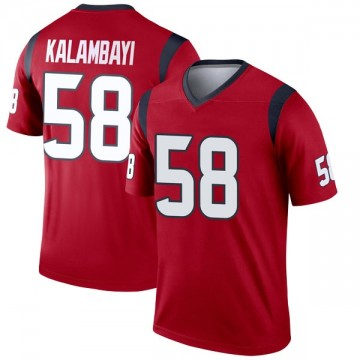 Youth Nike Houston Texans Peter Kalambayi Red Jersey - Legend