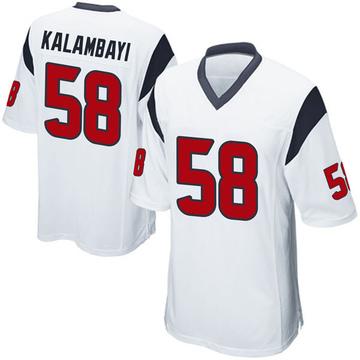 Youth Nike Houston Texans Peter Kalambayi White Jersey - Game